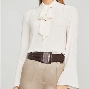BCBGMAXAZRIA Multi Strand Faux Leather Waist Belt